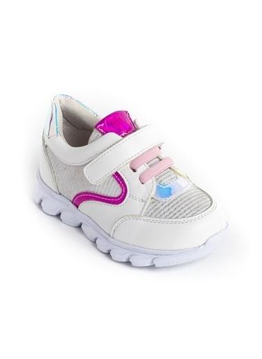 minipicco Kız Cocuk Ortopedik Destekli Çocuk Spor Ayakkabı Beyaz